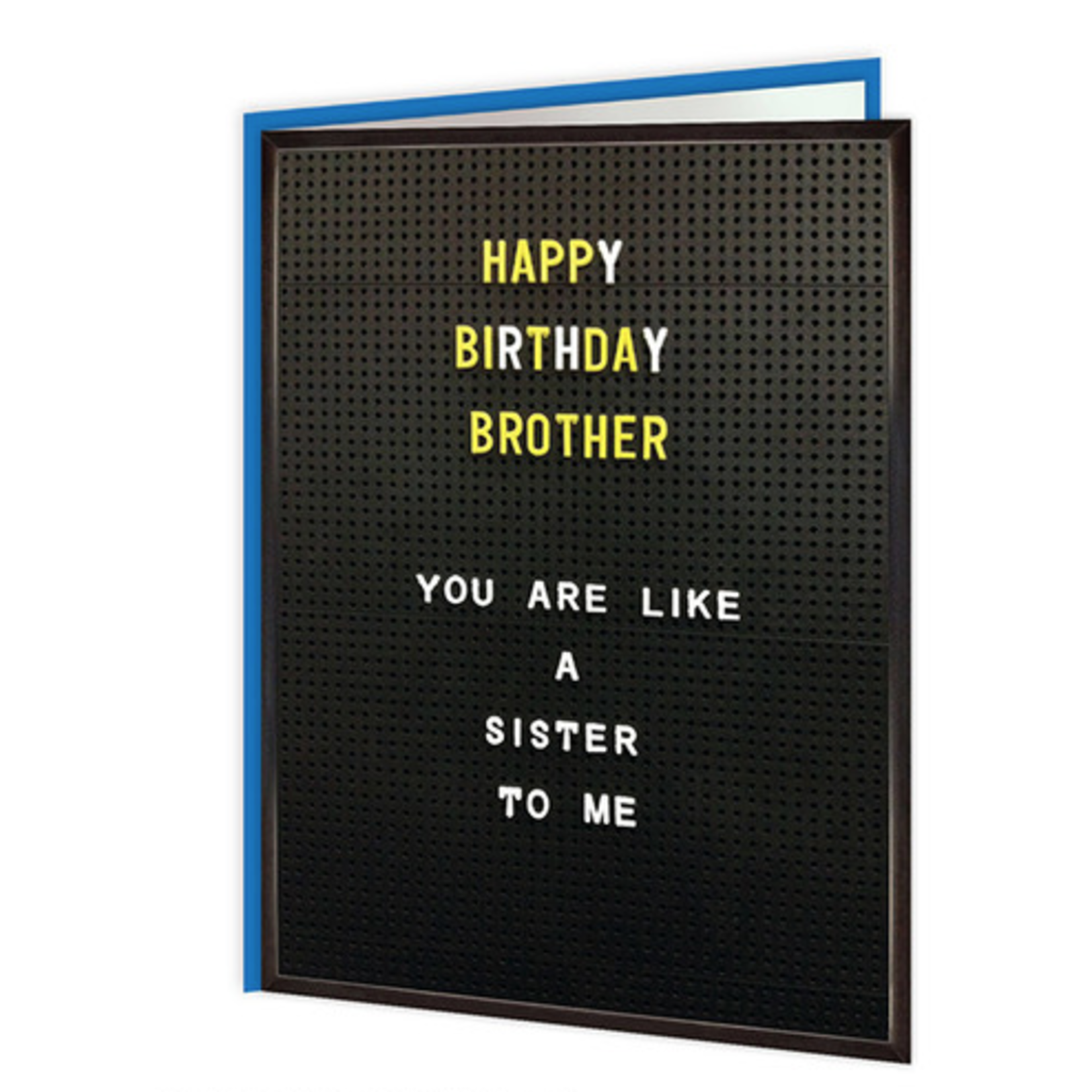 Brainbox Candy brother like sister funny birthday card