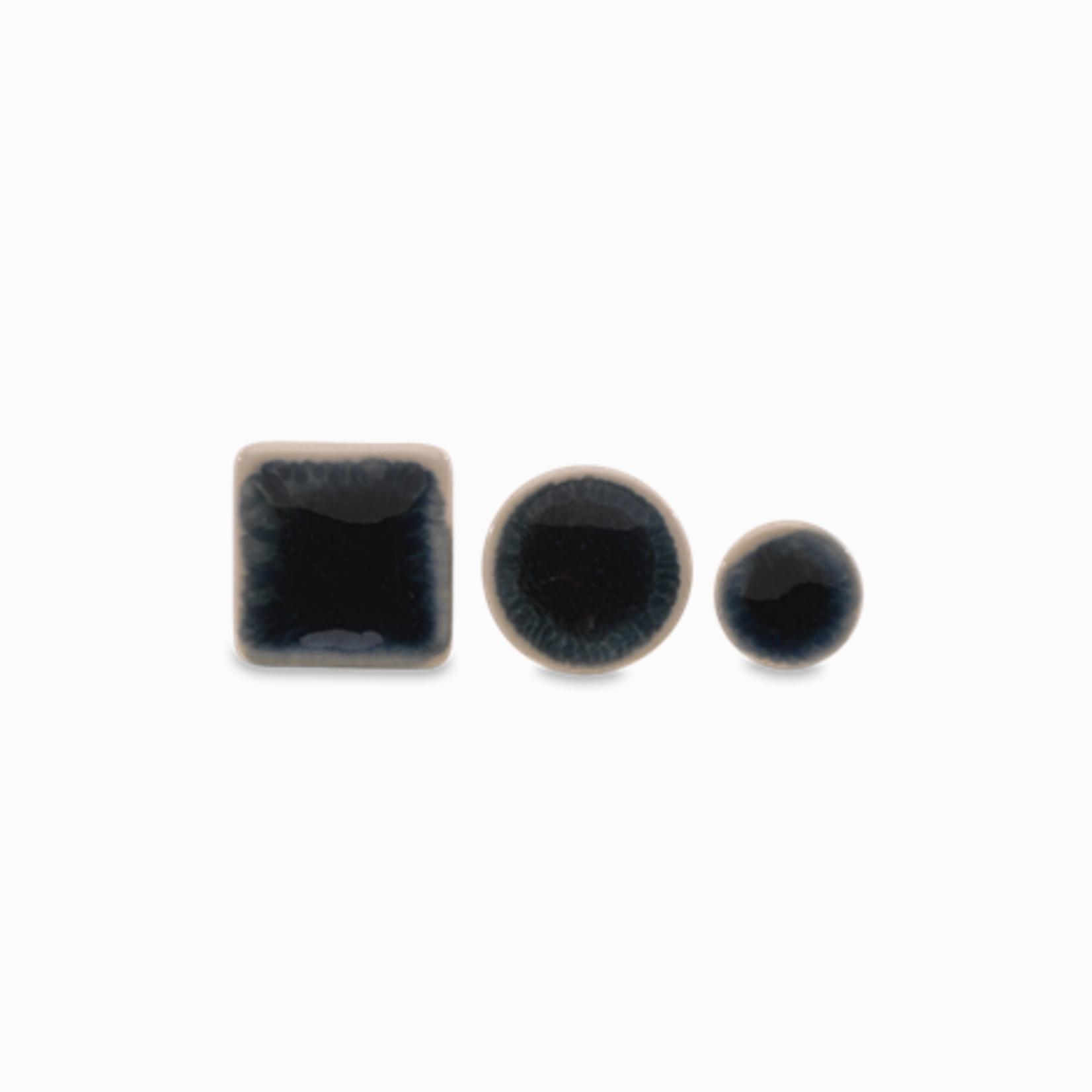 Nkuku Bira Ink Ceramic Knob - Small Round