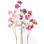 Grand Illusions Sweet Pea Artificial Plant Stem Mixed H42cm x 10cm Aprox