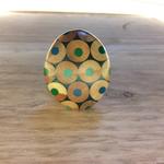 Zinc White ZW Pebble ring in turquoises