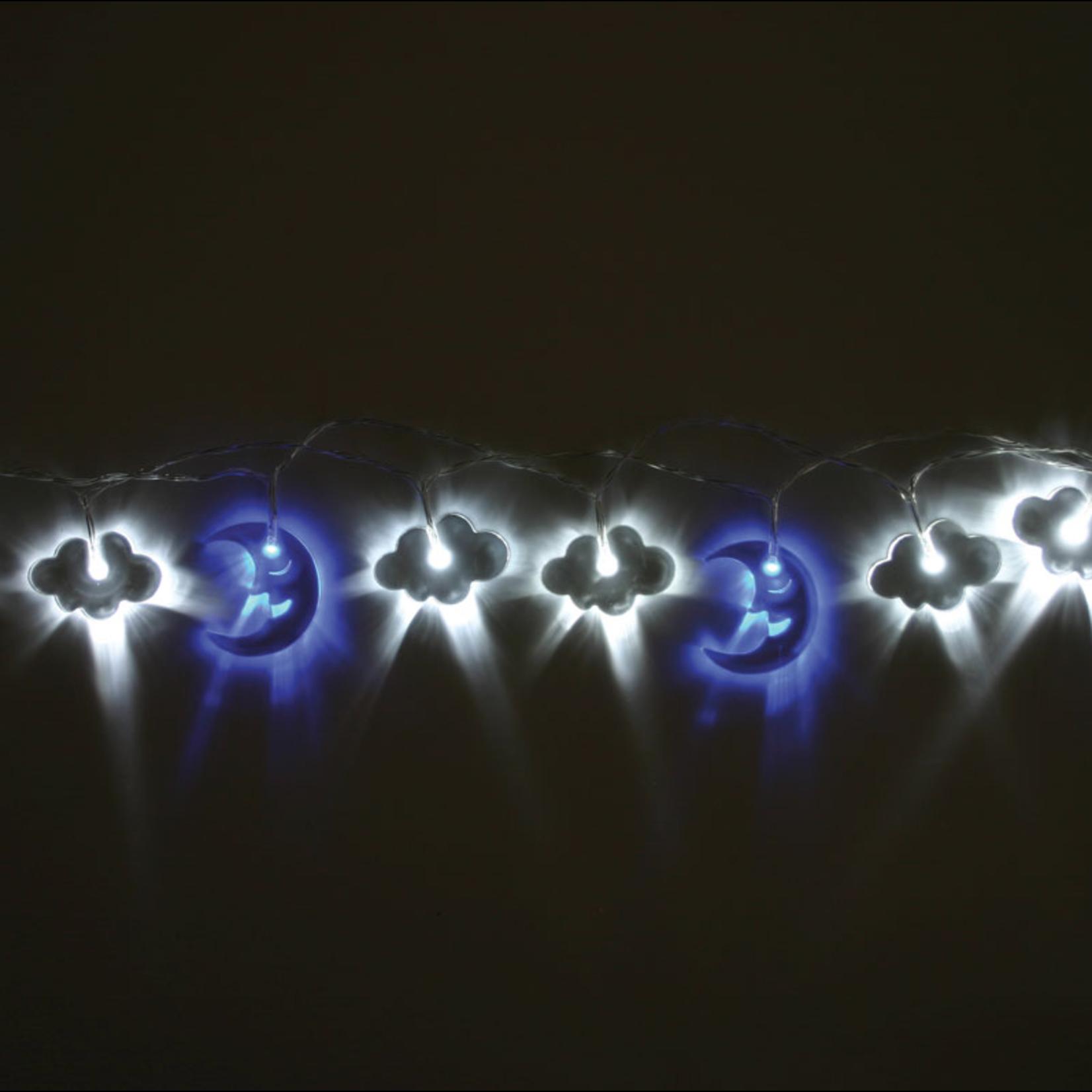 Light Style London Acrylic Moon & Cloud mains operated Fairy Lights
