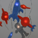 Light Style London Felt Spaceman Chain 20 Fairy Lights Battery Operated