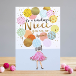 Louise Tiler NIECE BALLOONS CARD