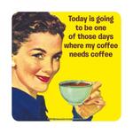 Half Moon Bay Coaster Single - My Coffee Needs Coffee