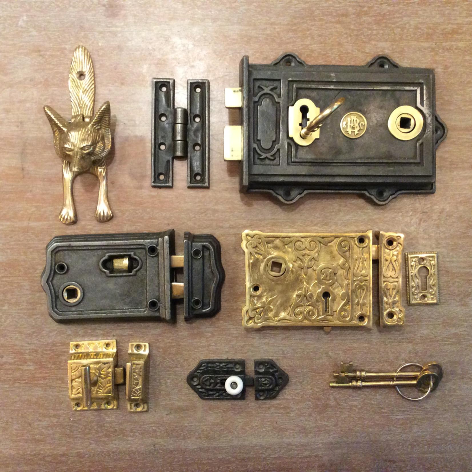 IRON RANGE Brass Fox Door Knocker
