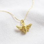 Lisa Angel Matt gold bee necklace