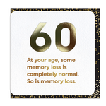 Brainbox Candy Memory Loss 60th Birthday Card