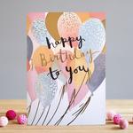 Louise Tiler Birthday Balloons Card