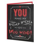 Brainbox Candy Foo Foo Woo Woo Valentine's Day Greetings Card