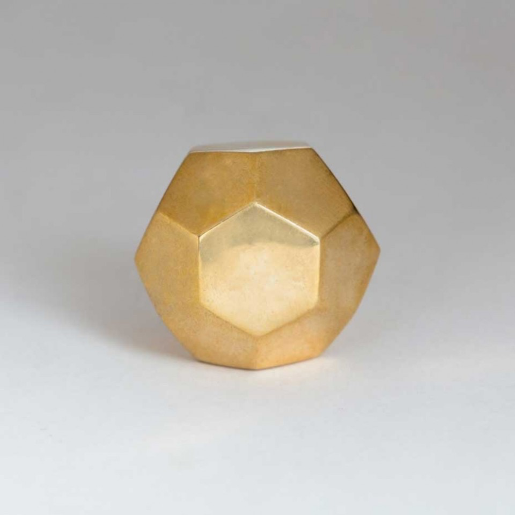 BoDuck Faceted octagonal knob polished brass