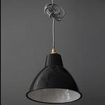 Nook SMALL DOMED LAMP SHADE- BLACK
