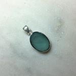 Silvex Images Small Oval Pendant - Aqua