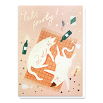 Stormy Knight Party Cats Card