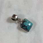 Silvex Images Small Square Pendant Turquoise