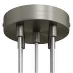 CCIT Brushed Titanium 120mm 5 Hole Ceiling Rose Kit With Cylindrical matching Cable Grip.