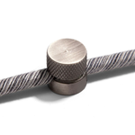 CCIT Metal wall fairlead fixing for textile cable - Titanium