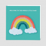 Redback Cards Welcome to the world Little One Reversible Sequin Card