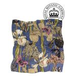 ONE HUNDRED STARS Kew Silk Square Scarf Iris Blue 100 x 100 cm in Gorgeous Gift Box