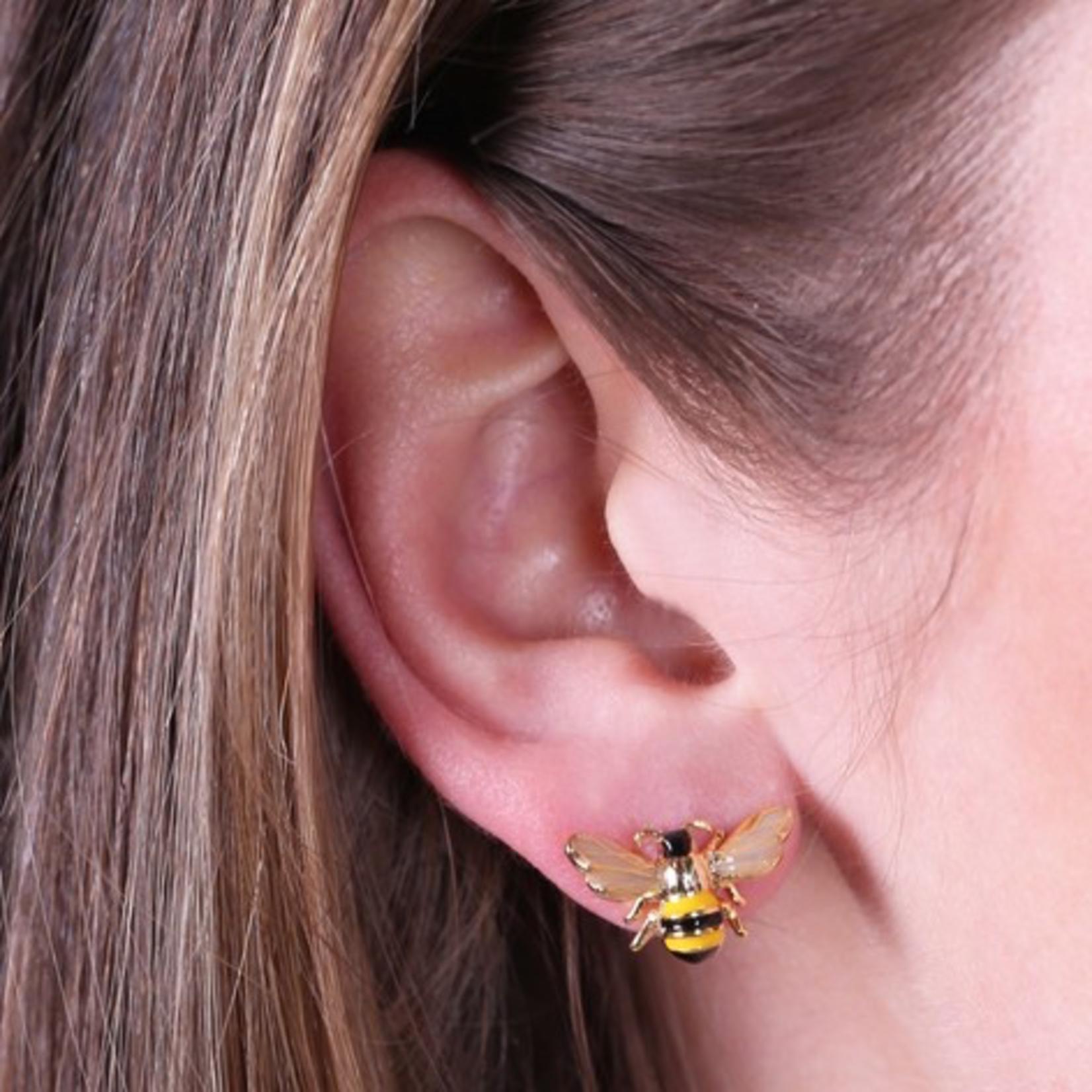 Lisa Angel Bumble Bee Gold Stud Earrings