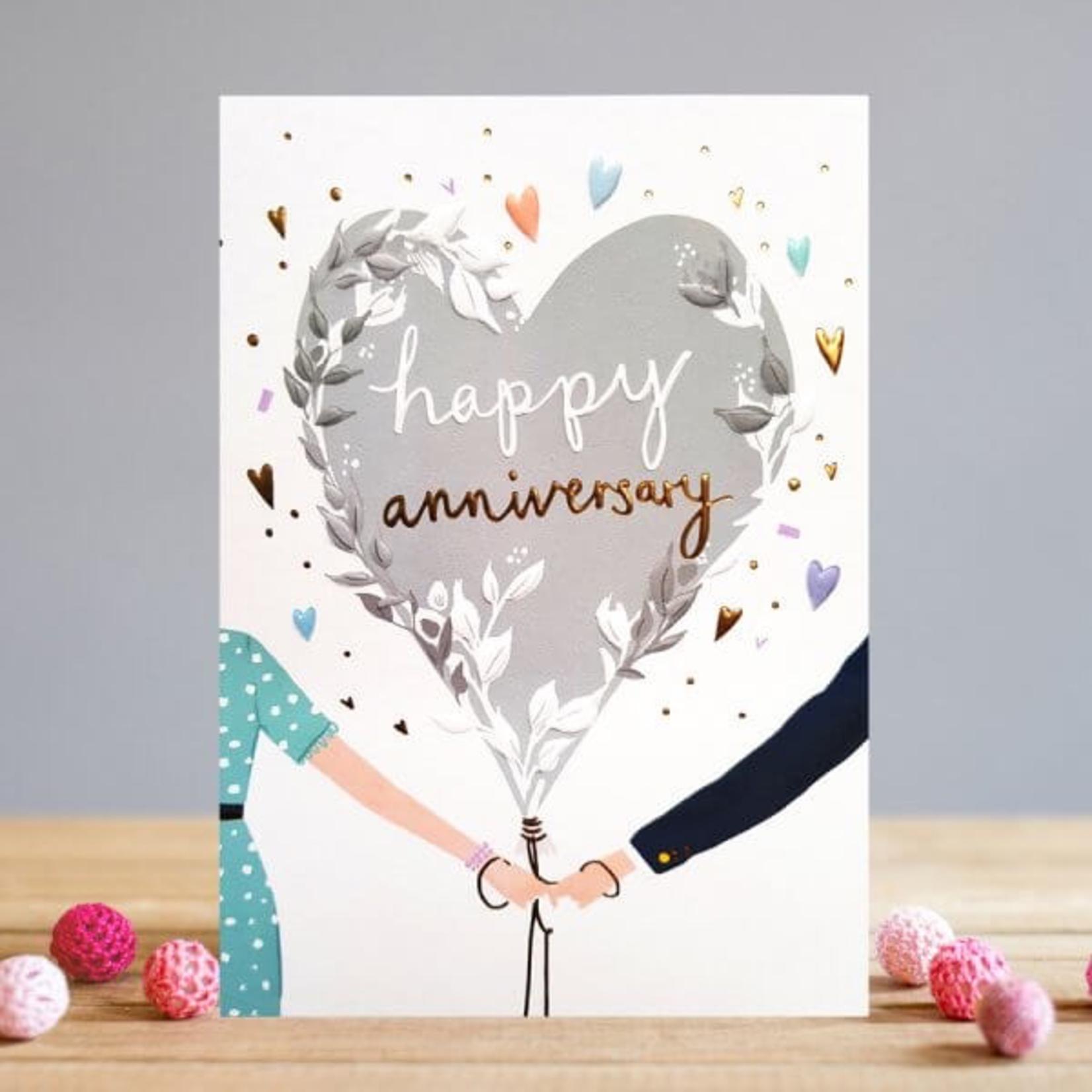 Louise Tiler Couple Heart Balloon Anniversary Card