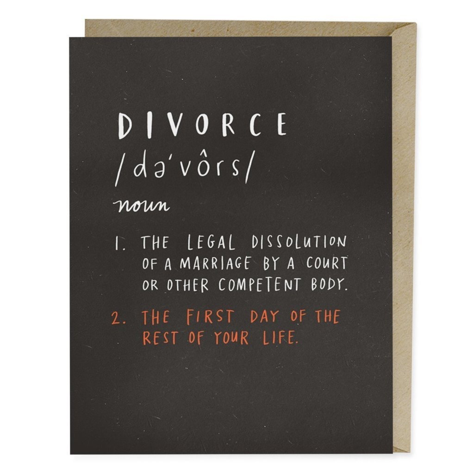 Emily McDowell Emily McDowell Definition of Divorce Card