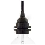 CCIT Black Bakelite E27 Lampholder 2 ferrules shade holder ring