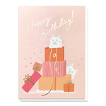 Stormy Knight Purfect Presents Cat Birthday Card