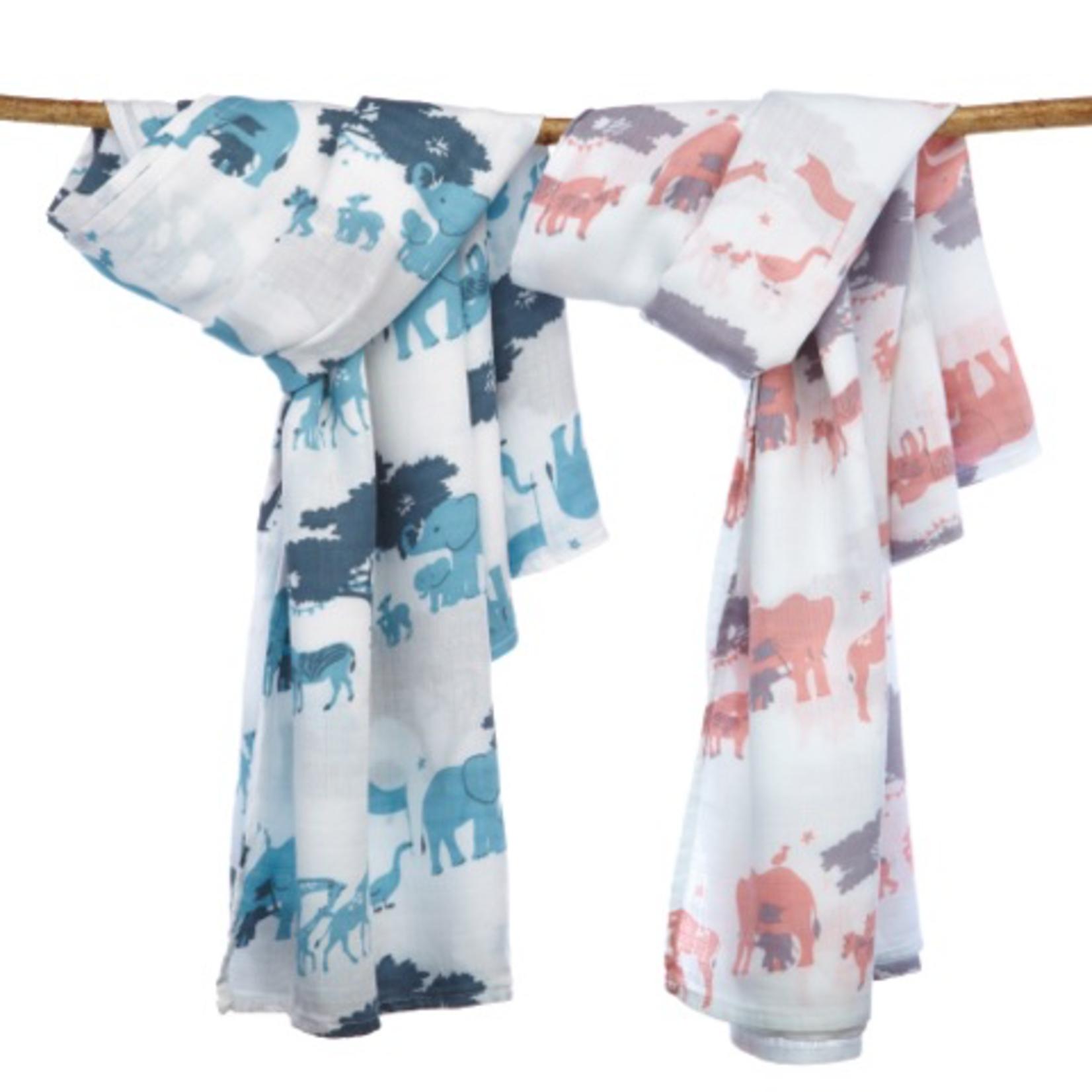 Berties Blankets Berties Blankets - swaddle Blanket cloth - pink