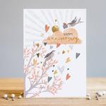 Louise Tiler Happy Anniversary Bird Card