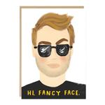 Jade Fisher Hi Fancy Face Man Card