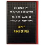 Brainbox Candy Lockdown Anniversary Greeting Card