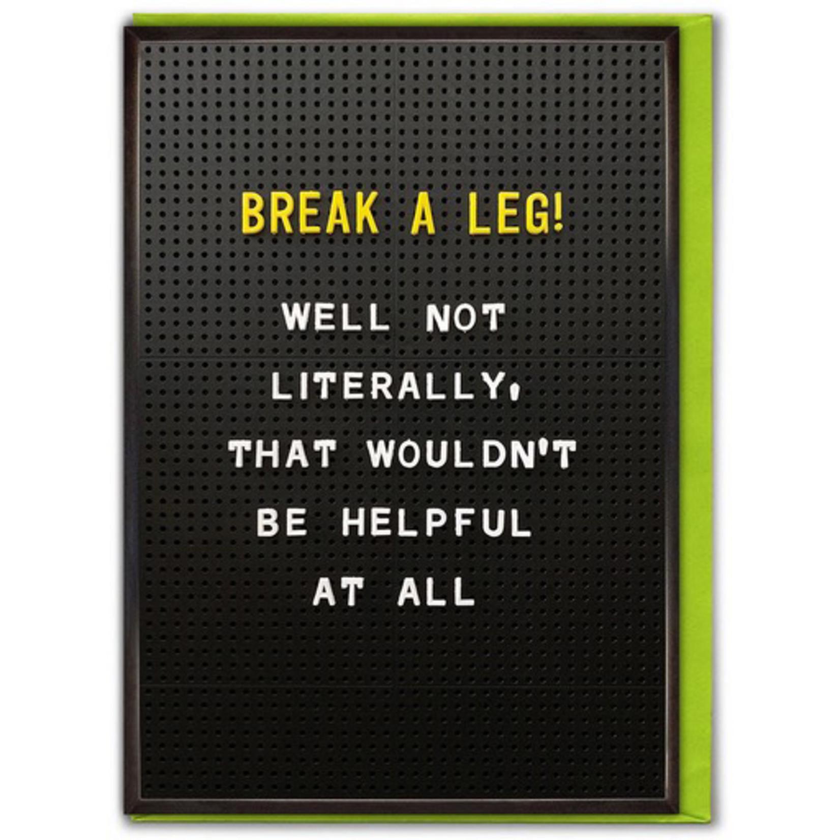 Brainbox Candy Break A Leg Good Luck Card