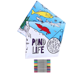 Eat Sleep Doodle The Doodle Pond Life Tablecloth with Washable Pens