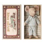Maileg Maileg Big Brother Mouse in Matchbox - PJs