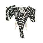 Fiona Walker Fiona Walker Zelephant - Elephant Head With Zebra Print and Tusks Original Large Size