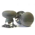 Pushka 60mm Dark Grey Ceramic Mortice Door Knobs