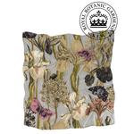 ONE HUNDRED STARS Kew Silk Square Scarf Iris Grey 100 x 100 cm In Gorgeous Gift Box