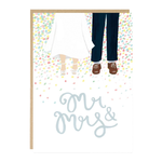 Jade Fisher Mr and Mrs Feet Wedding Card