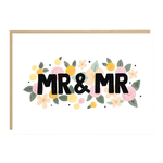 Jade Fisher Mr and Mr Floral Wedding Card