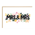 Jade Fisher Mrs and Mrs Floral Wedding Card