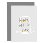 OLD ENGLISH CO. Hats Off To You Blush Grey Card