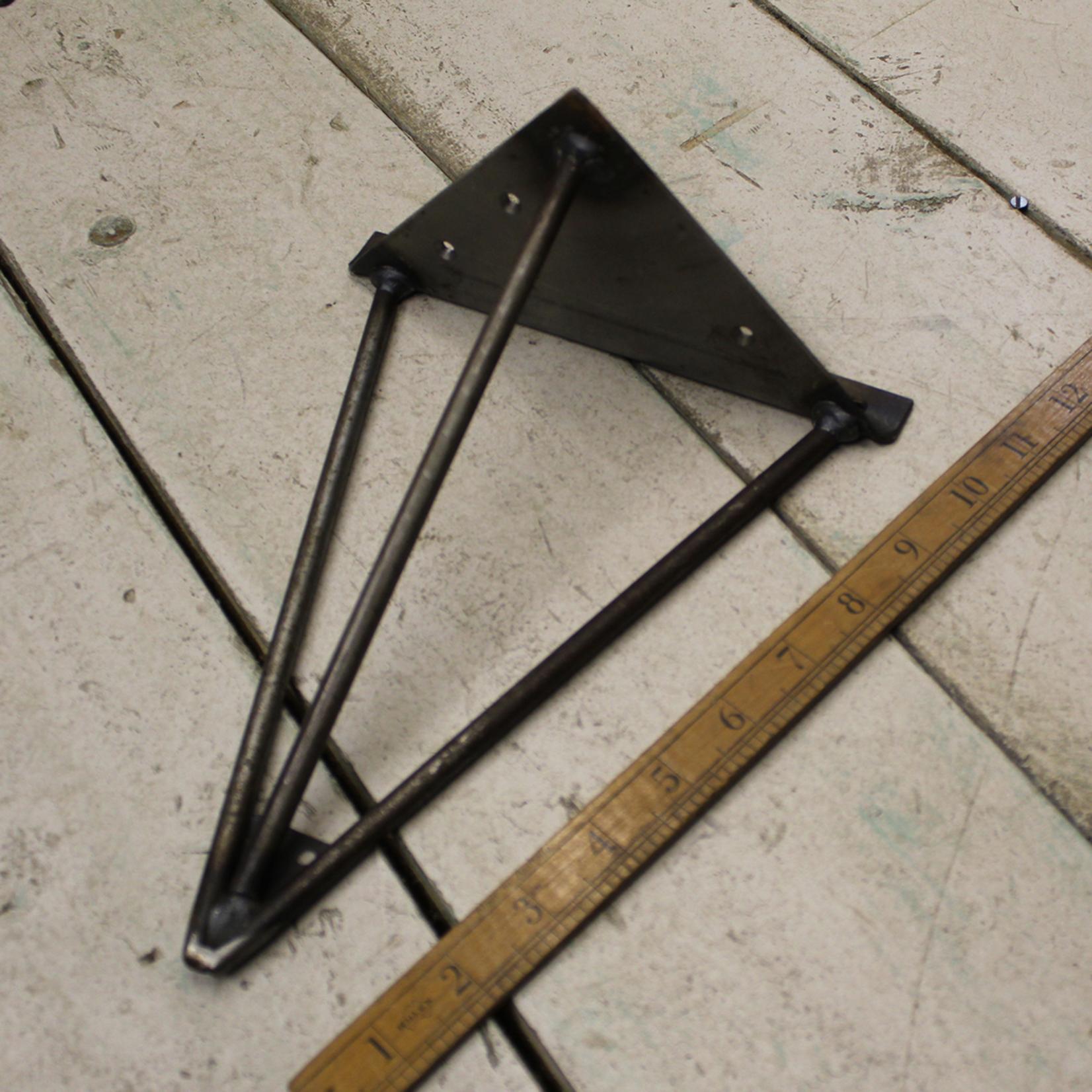 IRON RANGE Hairpin Style Triangle wall Shelf Bracket H245mm