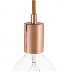 CCIT Copper Cap E27 Cylinder lampholder Kit with cylindrical cable retainer