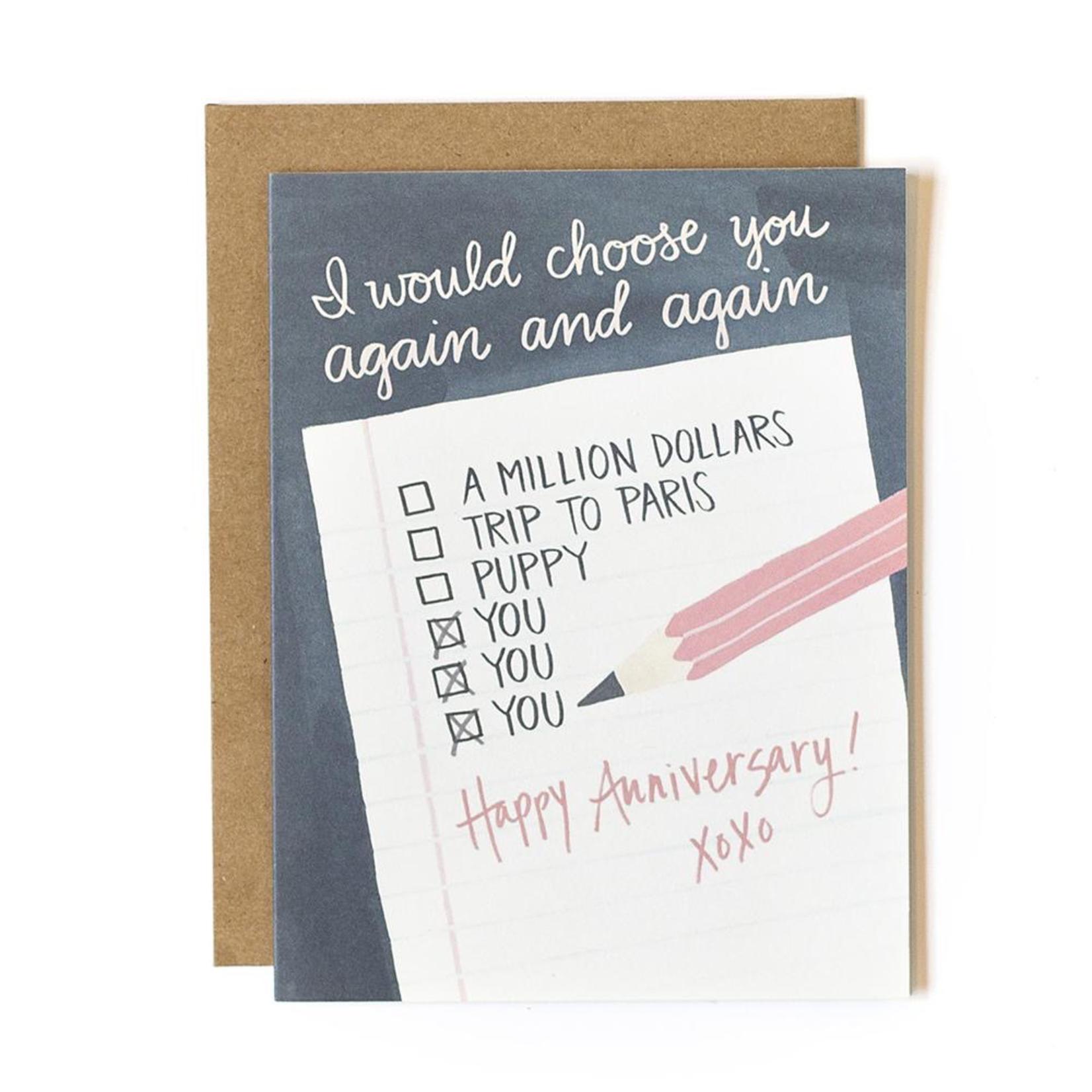 1CANOE2 Anniversary Note Card