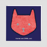 Redback Cards Cool Cat Reversible Sequin Card