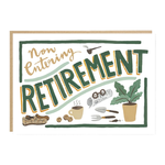 Jade Fisher Retirement - Gardening, Pipe and Slippers Card