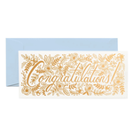 Rifle Rifle Champagne Floral Congrats No. 10 Card