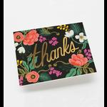 Rifle Rifle Birch floral thanks card