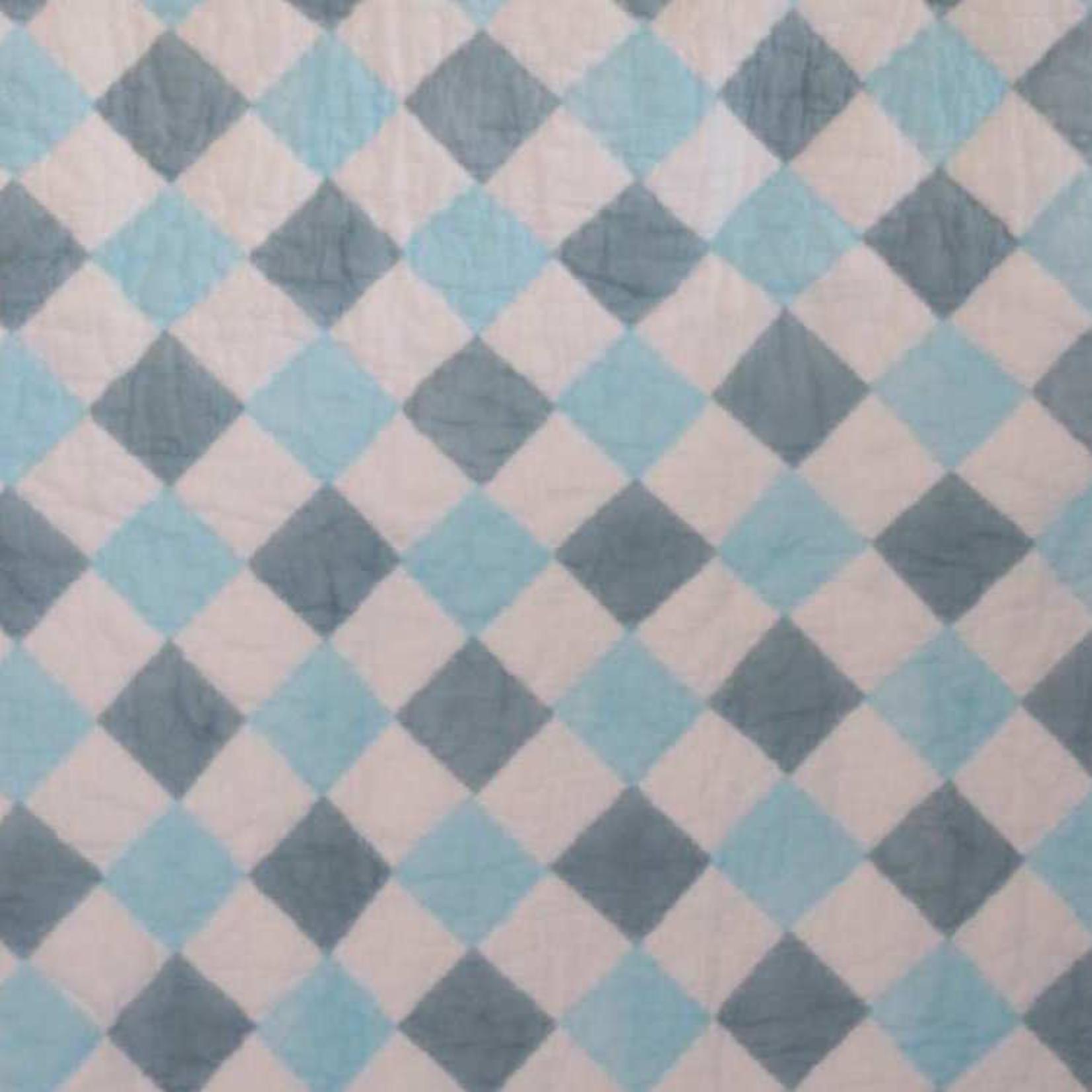Berties Blankets Berties Blankets Reversible Quilt - blue