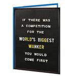 Brainbox Candy World's Biggest Wanker Card